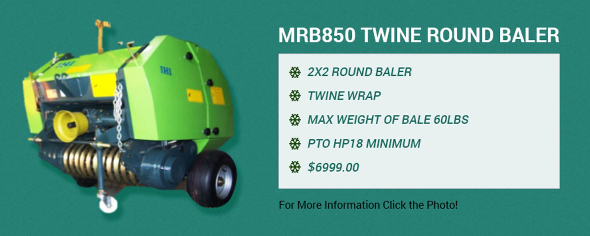 MRB850 Twine Round Baler banner