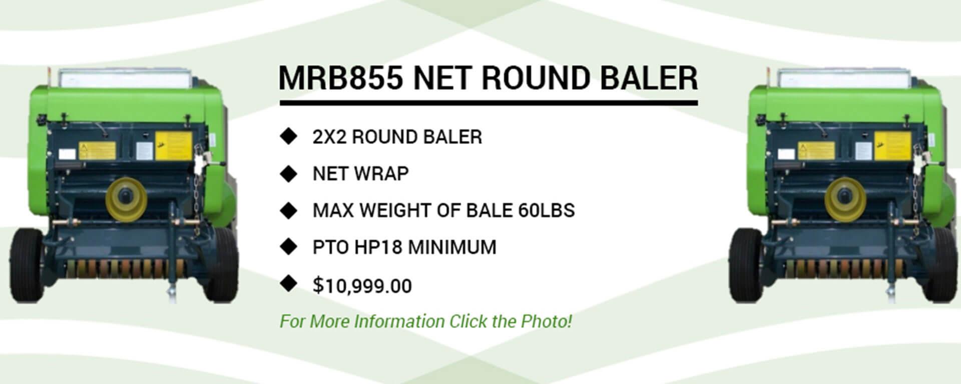MRB855 Net Round Baler