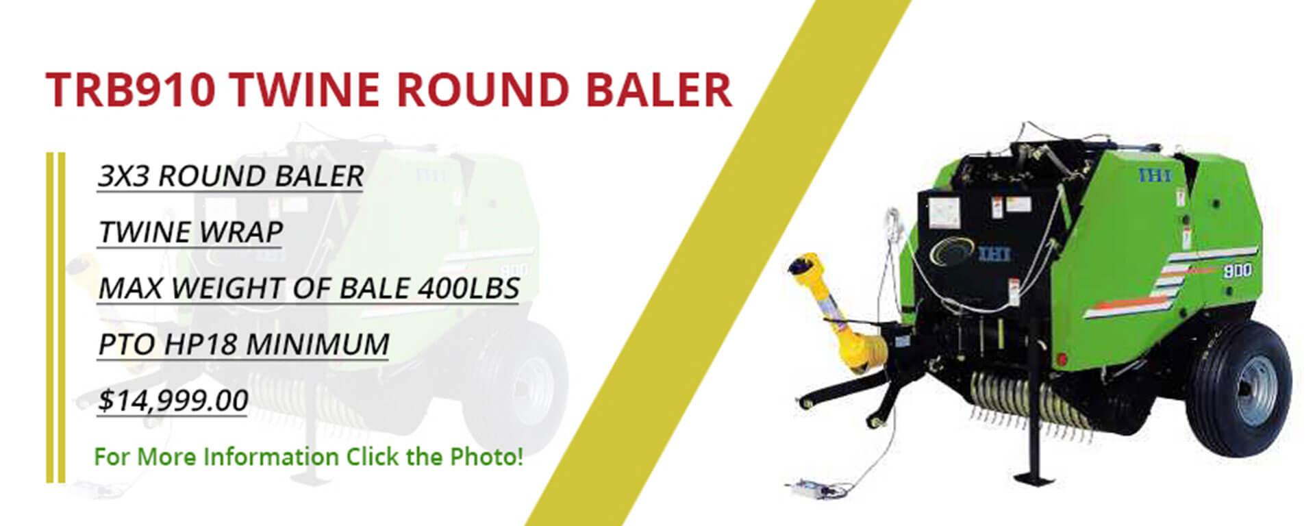 TRB910 Twine Round Baler banner