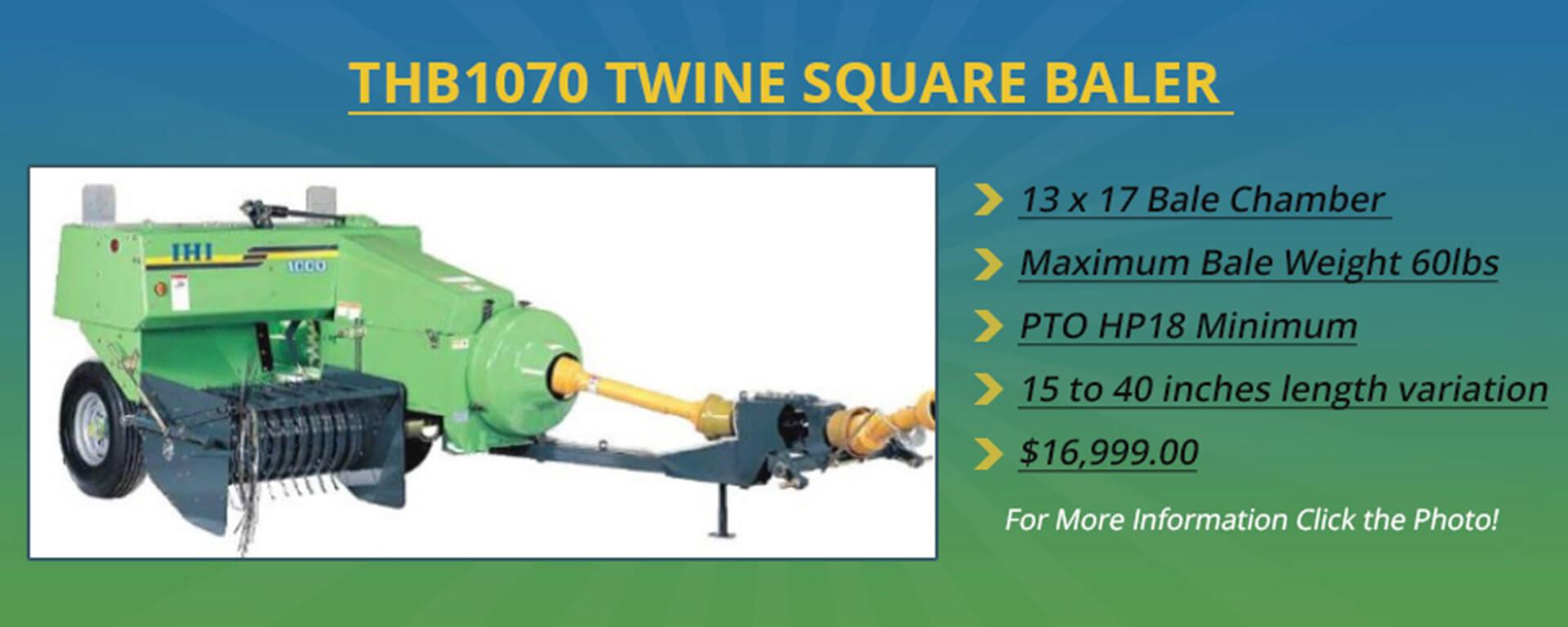 THB1070 Twine Square Baler