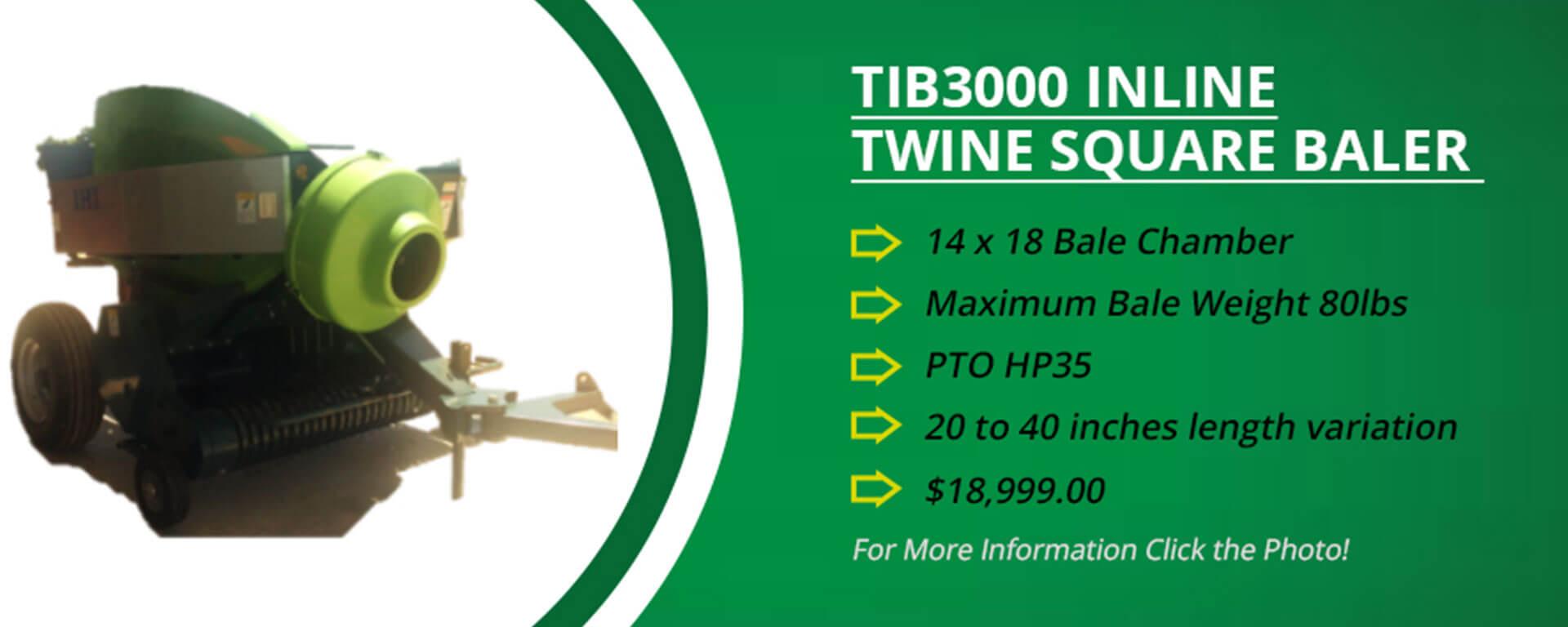TIB3000 inline twin square baler banner 5