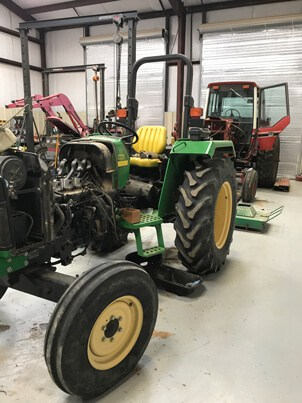 farm equipment service tractor garage