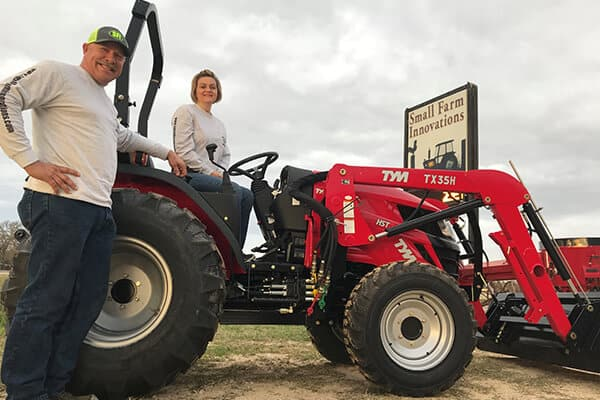 Phil and Sharon Livengood Owners Small Farm Innovations farm equipment dealers